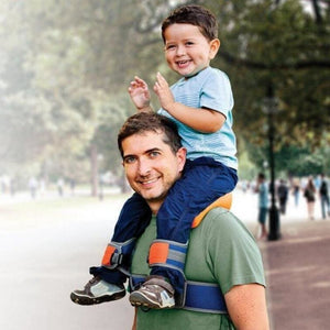 Load image into Gallery viewer, Baby Outdoor Travel Children Tool Hands Free Shoulder Carrier Hip Seat Travel Child Strap Rider Travel Back Frame Infant Saddle - My Web Store Shopping