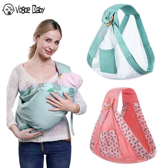 Newborn Sling Dual Use Infant Nursing Cover Carrier Mesh Fabric Breastfeeding Carriers - My Web Store Shopping