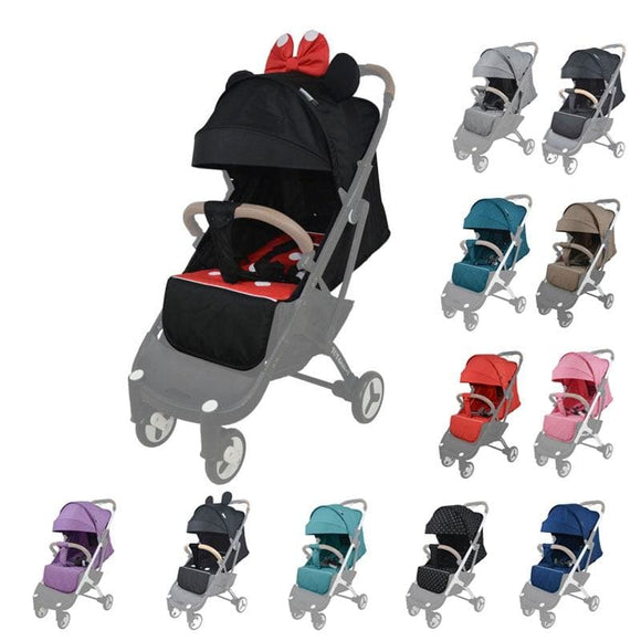 Baby stroller cushion sunshade set Mattress Bebe accessories Yoya PLUS 2/3/4 series Babalo with - My Web Store Shopping