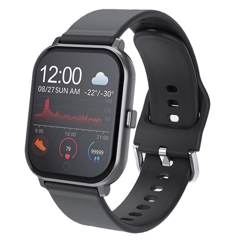 T55 24h Heart Rate Blood Pressure Blood Oxygen Monitor Weather Push bluetooth Music 1.3inch Smart - My Web Store Shopping