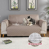 Black Brown Waterproof Sofa Protector Sofa Slipcovers Anti-Skid Dirt-Proof Pet Dog - My Web Store Shopping