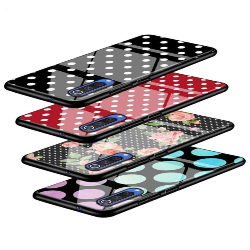 Black Cover Polka Dots for Samsung Galaxy A90 A80 A70 A60 A50 A40 A30S A20E A20S A10 Phone Case - My Web Store Shopping