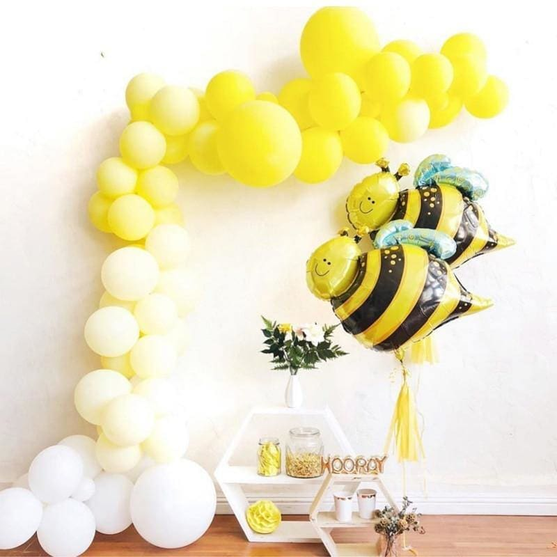 Bumblebee Party Decor Honey Bee Theme Supplies Star Mylar Foil Balloons Yellow Black Polka Dot Balloons Birthday  Baby Shower - My Web Store Shopping