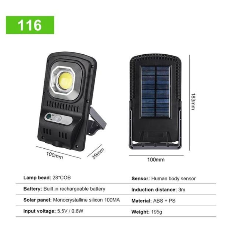 Load image into Gallery viewer, COB LED Solar Light Outdoor Solar Lamp PIR Motion Sensor Wall Light IP65 Waterproof Solar Powered - My Web Store Shopping