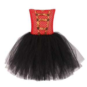 Load image into Gallery viewer, Carnival Circus Ringmaster Tutu Dress with Headband Girls Birthday Party Fancy Dress Lion Tamer - My Web Store Shopping