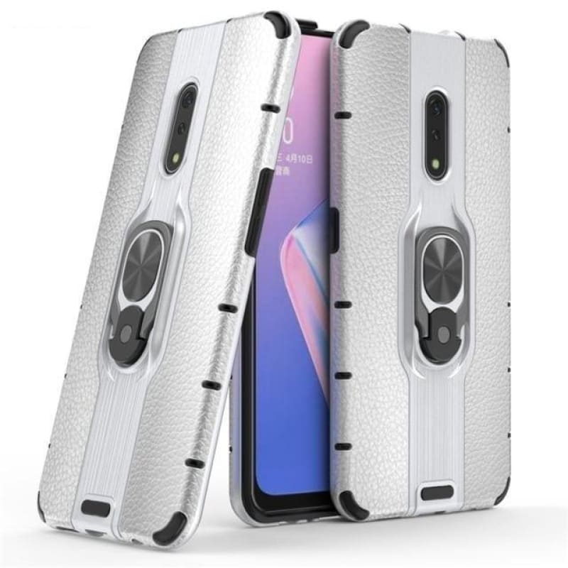 "Load image into Gallery viewer, Case For OPPO Realme X Armor Case Metal Ring Holder Phone Bumper Case Realme X Ultra-thin Hard PC Back Cover For Realme X 6.5"" - My Web Store Shopping"