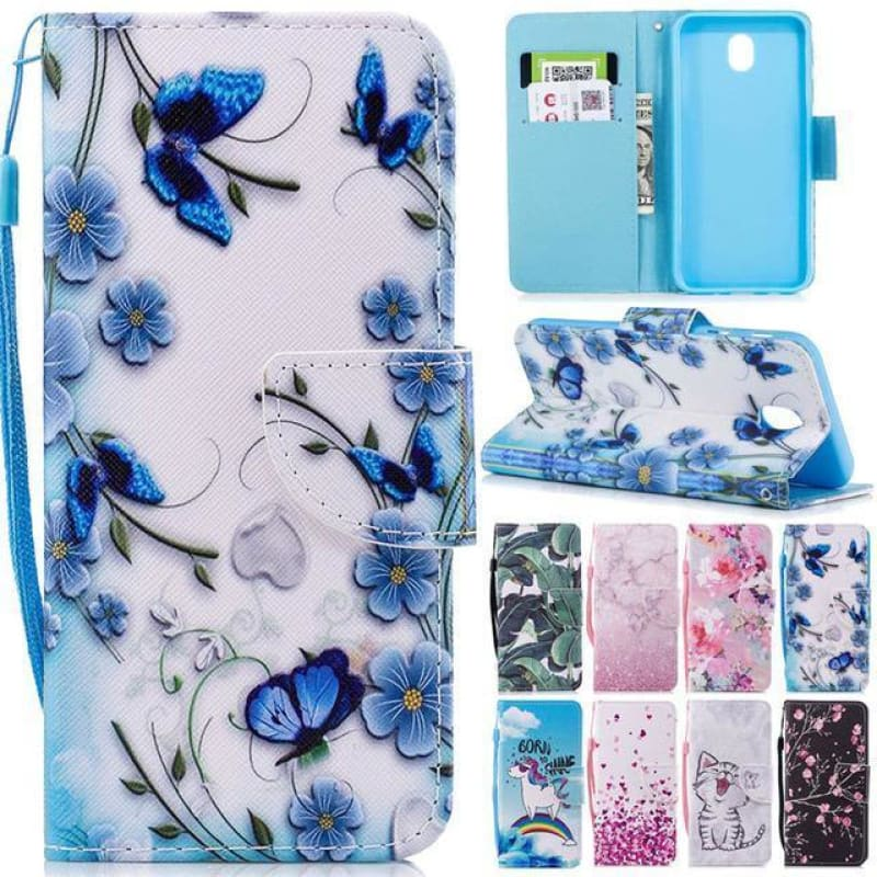 Case on sFor Samsung Galaxy J5 J3 J7 2017 2016 S7 Edge A8 2018 S8 Plus S9 PLUS A3 A5 2017 Covers Leather Wallet Stand Phone Case - My Web Store Shopping