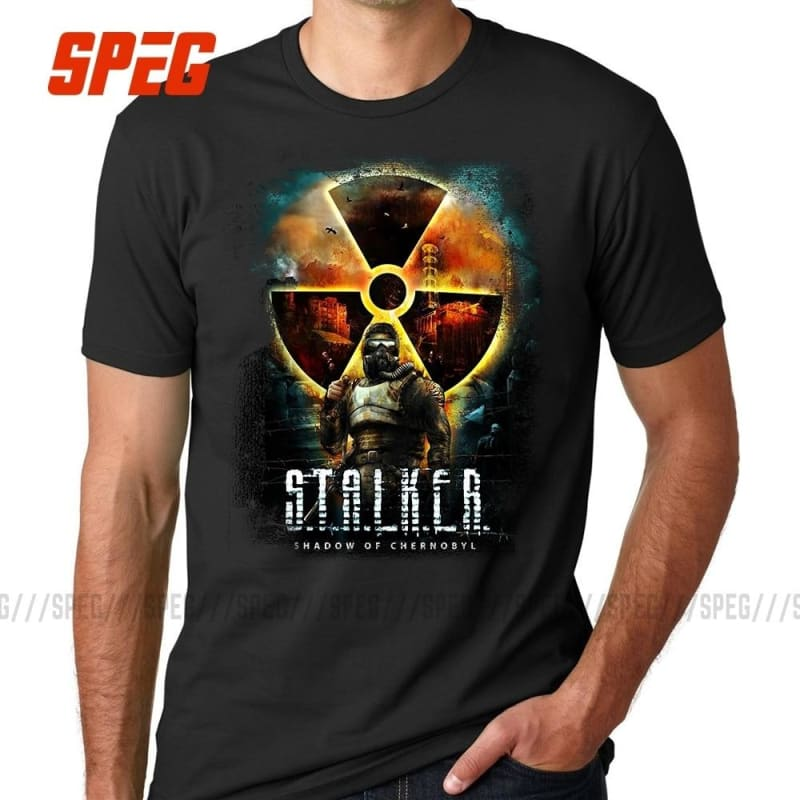 Casual Tees Shirts Stalker Shadow of Chernobyl Cool T Shirts Men's Organnic Cotton Short Sleeve - My Web Store Shopping