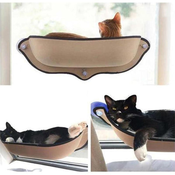 Bed Mount Window Pod Lounger Suction Cups Warm Bed For Small Big Pet Cat - My Web Store Shopping