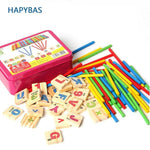 Wooden Mathematics Numbers Sticks math Toys  Early Learning Counting Educational Toy - My Web Store Shopping