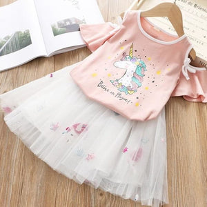 Children Clothes New Unicorn Baby Dresses Girls for 2 4 6 Years Casual Wear Girls' Clothing - My Web Store Shopping