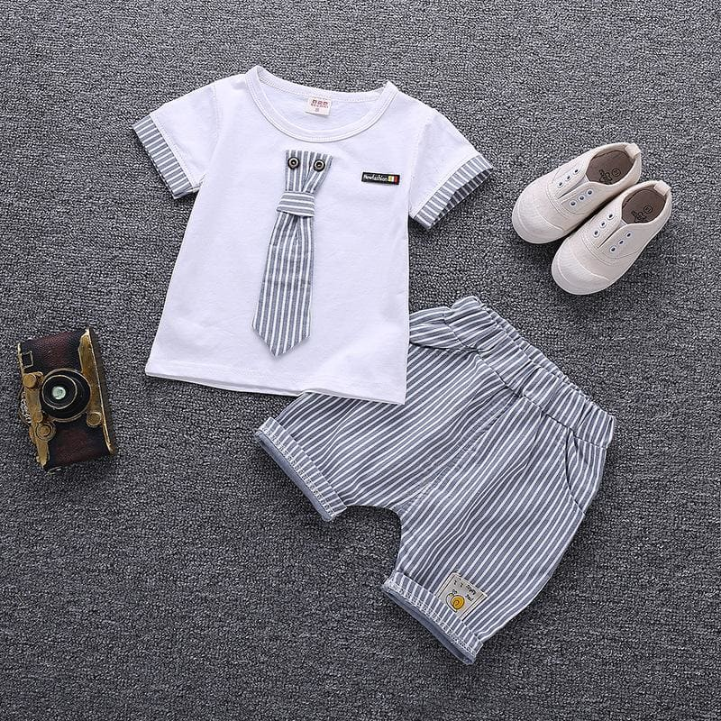 Children Clothing Set Baby Boy Clothes Summer Cartoon 2018 New Kids Cotton Cute Sets Baby Boy Outfit - My Web Store Shopping