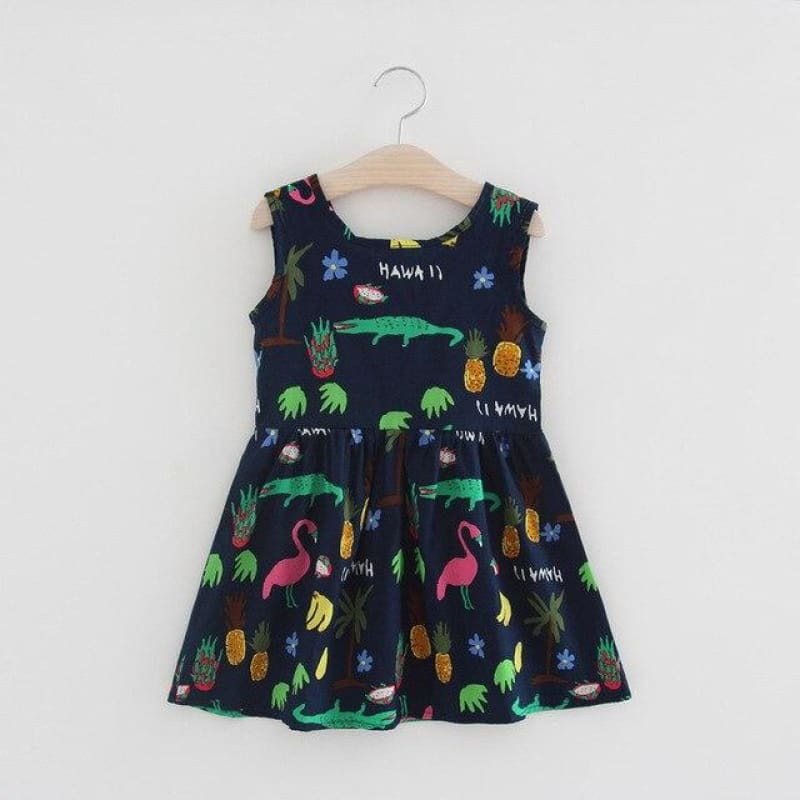 Load image into Gallery viewer, Children Summer Sleeveless Girls Cartoon Dress Kids Printed Alligator Dresses Kids Flower Dress Baby - My Web Store Shopping
