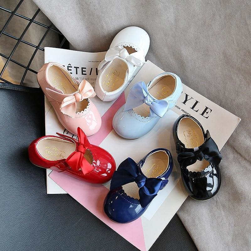 Children's Candy Color Baby Shoes Soft Bottom Spring Smooth Leather Children Girl Shoes Princess Party - My Web Store Shopping