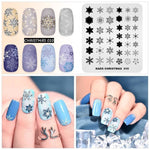 Christmas & Halloween Nail Stamp Plate Winter Snowflake Elk Pattern Nail Art Template Pumpkin Bat Image Design Stencil Plate - My Web Store Shopping