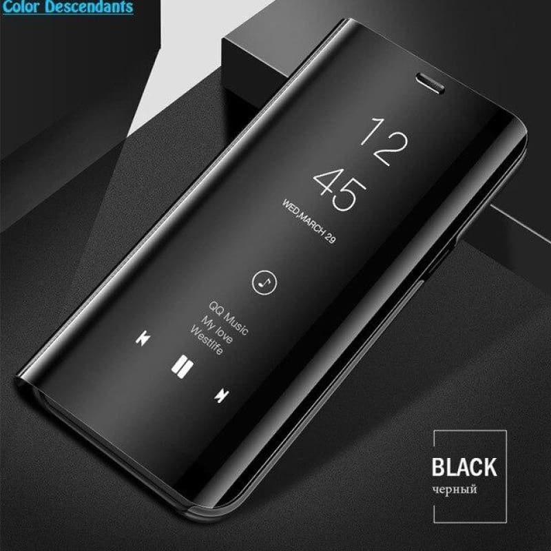 Clear View Smart Mirror Phone Case For Samsung Galaxy S9 S8 S7 S6 Edge Plus Note 8 9 For A3 A5 A7 A8 2017 J3 J7 2018 Case Funda - My Web Store Shopping