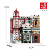 Compatible Lepined 10185 Green Grocer LED Bricks City Street MOC Antique collection shop Model Building Blocks Toys For Children - My Web Store Shopping