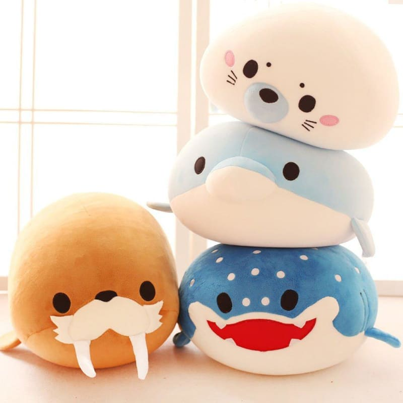 Cute Dolphin, Seals, Walruses, Killer Whales, Whale Sharks Plush Toys, Ocean Alliance Foam Particles - My Web Store Shopping