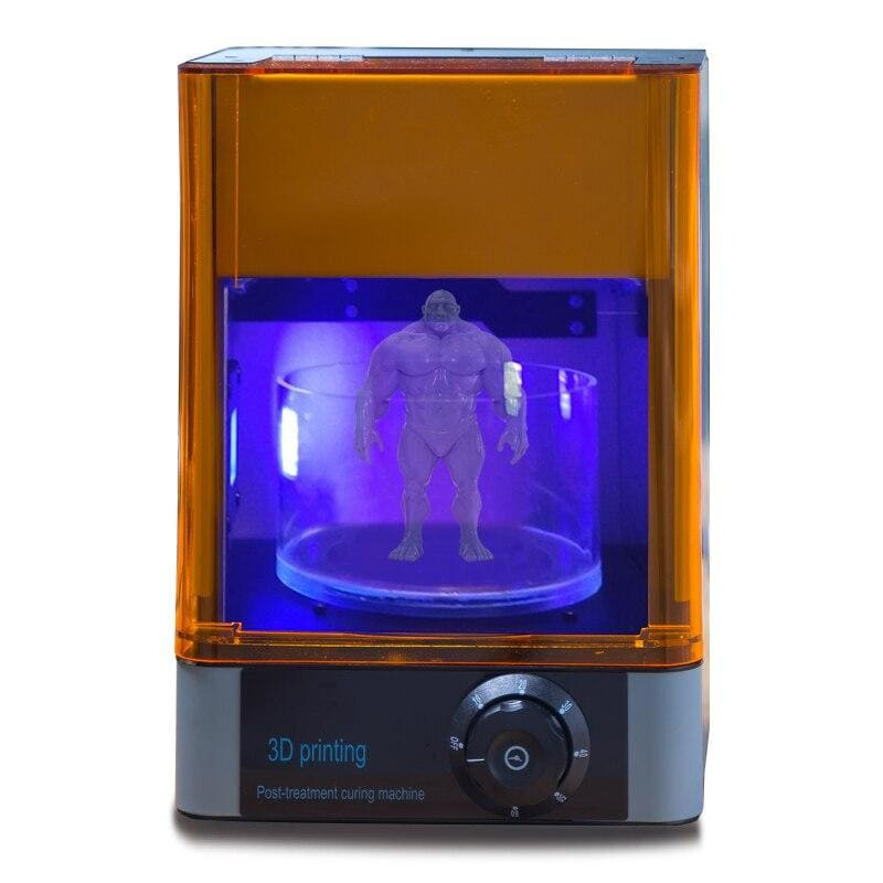 3D printer UV curing Rotating&Timing machine 400-405nm wavelength UV LED Lamp curing box - My Web Store Shopping