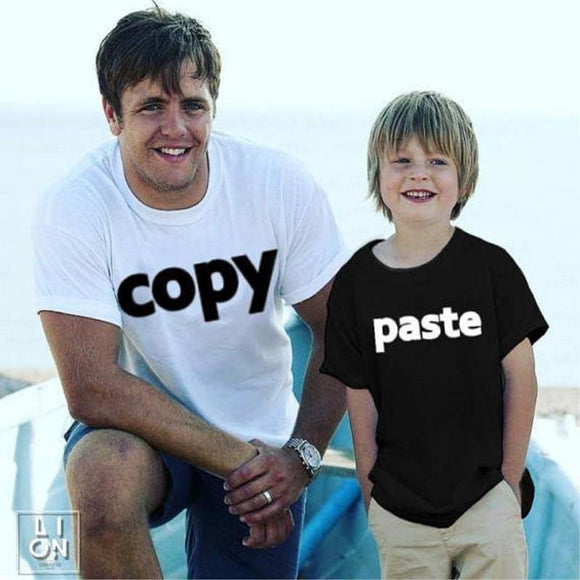 Dad and Me Father Son daughter  Shirts  Father Baby Matching Clothes T Shirt Family Matching - My Web Store Shopping
