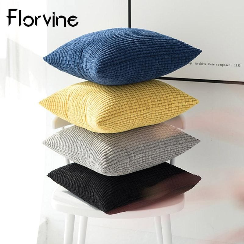 Decorative Pillows For Sofa Cushion Covers Pure Color Simple Car Home Decor White Throw Case on the - My Web Store Shopping