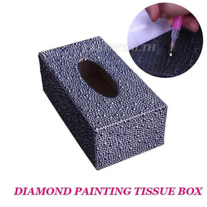 Load image into Gallery viewer, Diamond painting tissue box Three-dimensional handmade art cosmetic tissue dispenser Children's - My Web Store Shopping