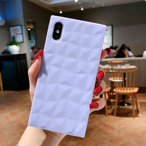 Load image into Gallery viewer, Diamond-shaped square diamond pattern all-inclusive anti-fall soft shell for iphone XS Max XS XR X 6 - My Web Store Shopping