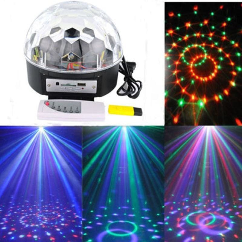 Digital RGB LED Music Crystal Magic Ball Effect Light MP3 USB Disco DJ Stage Lighting+Remote Control - My Web Store Shopping