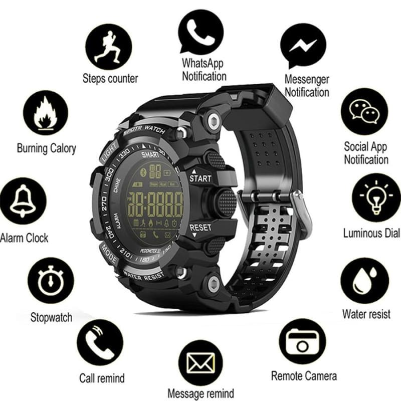 Digital Smart Men Outdoor Sport Watches Waterproof Bluetooth Remote Control Smartwatch - My Web Store Shopping