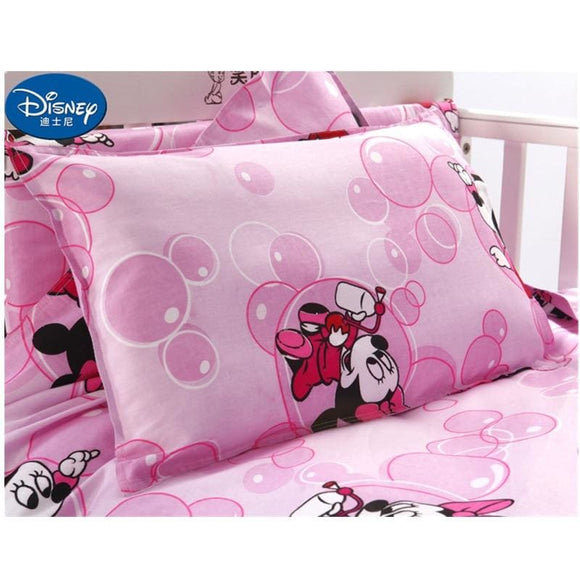 Disney Mickey Minnie Cotton Pillow case Red Cute Cushion case Children baby girl Pillow Cover - My Web Store Shopping