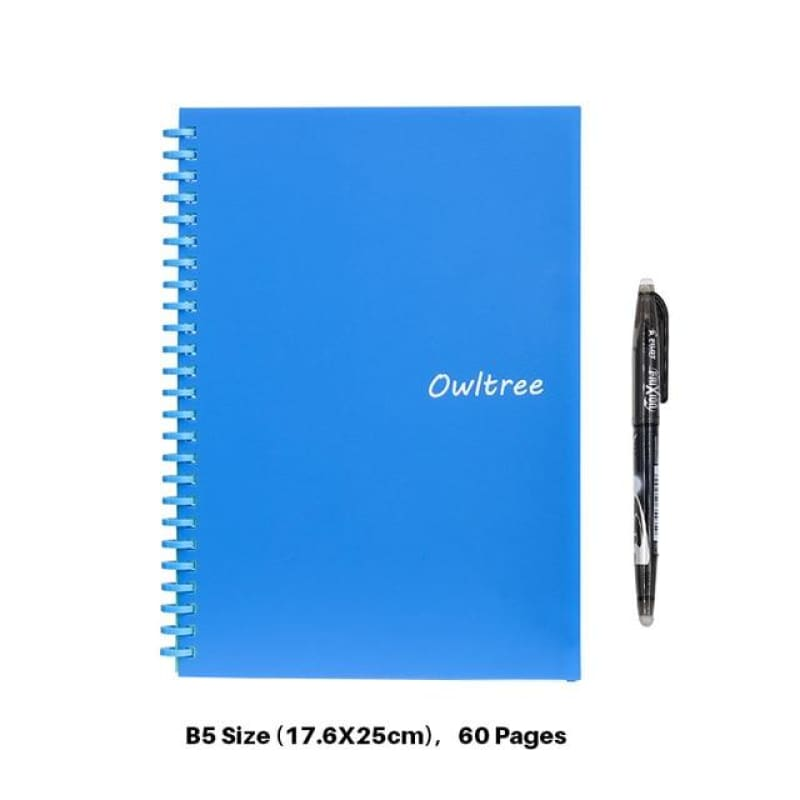 Smart Reusable Erasable Notebook Paper Microwave Wave Cloud Erase Notepad Note Pad Lined With Pen - My Web Store Shopping