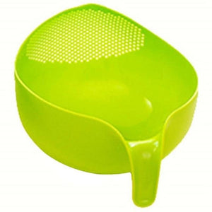 Load image into Gallery viewer, Durable Rice Washing Filter Strainer Kitchen Tool Beans Peas Sieve Basket Colanders Cleaning Gadget Filtering With Handle Z506 - My Web Store Shopping
