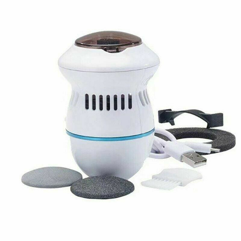Electric Foot File Vacuum Callus Remover Rechargeable Foot Files Clean Tools Feet Care for Hard Cracked Skin - My Web Store Shopping