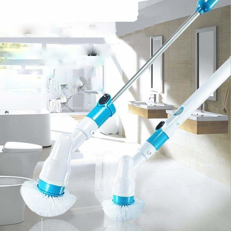 Electric spin Scrubber Turbo Scrub  Cordless Chargeable Bathroom Cleaner with Extension Handle - My Web Store Shopping
