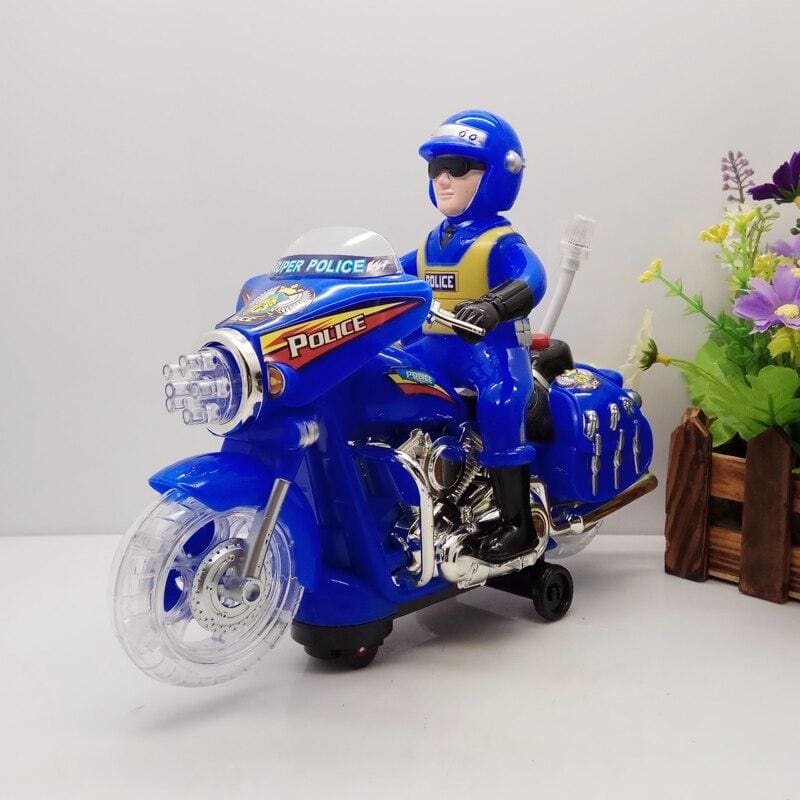 Electric Univeral Police Toy Car Flashing Music Children Police Electric Diecast Model motorcycle - My Web Store Shopping