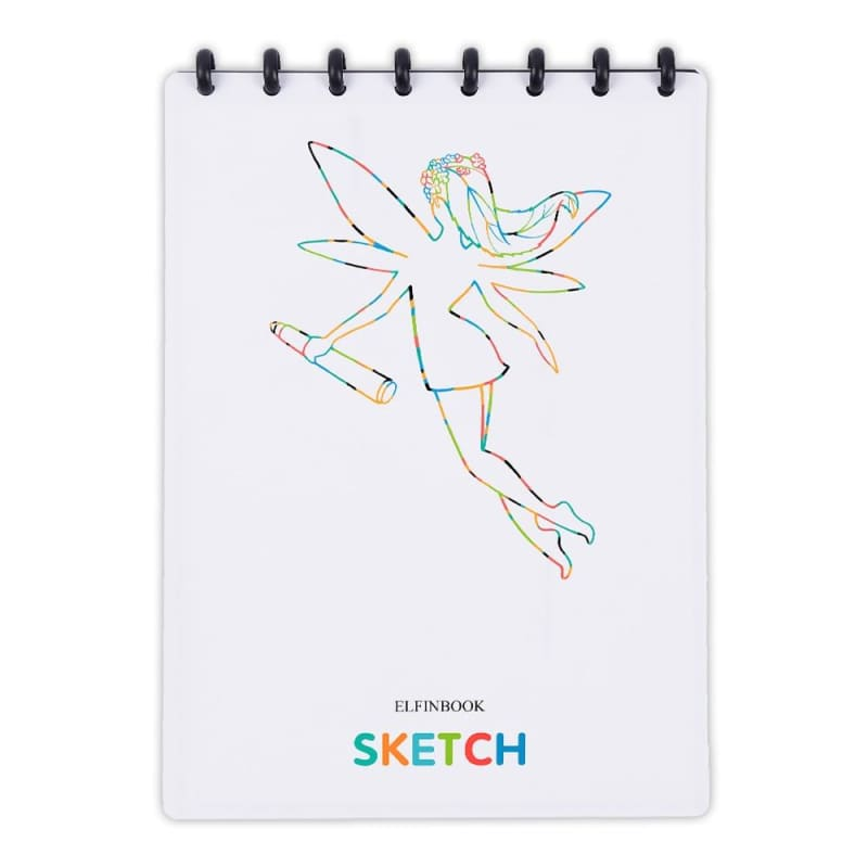 Elfinbook Sketch A4 Painting Drawing Notebook Smart Reusable With APP Scanning - My Web Store Shopping