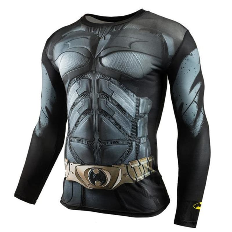 Endgame Capitana Marvel Superman Anime T Shirt Men Long Sleeve 3D Funny T Shirts Fitness Compression - My Web Store Shopping