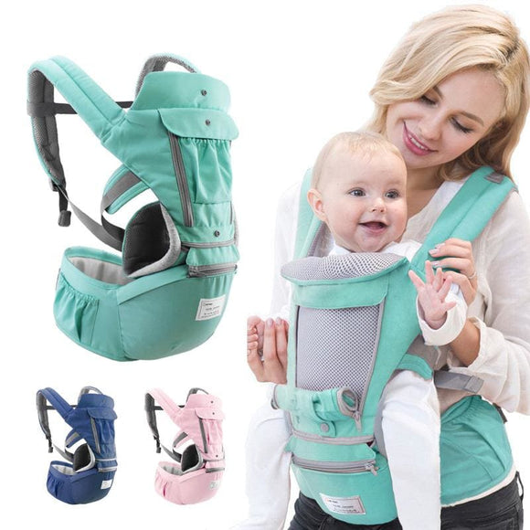 Ergonomic Baby Carrier Infant Kid Baby Sling Front Facing Kangaroo Baby Wrap Carrier for Baby Travel - My Web Store Shopping