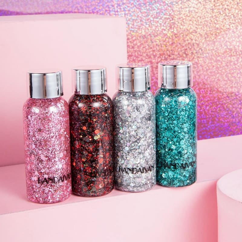 Eyeshadow Glitter Gel Cream Nail Hair Body Face Glitter Gel Art Flash Heart Loose Sequins Cream Festival Party Decoration TSLM1 - My Web Store Shopping
