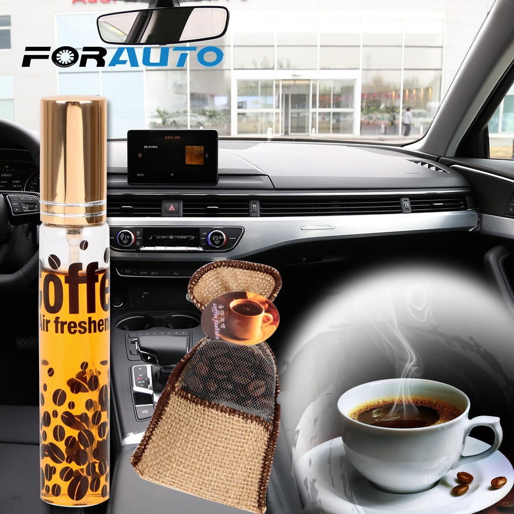 FORAUTO 2 piece/set Car Perfume Coffee Bean Ornament Interior Accessories Car-styling Coffee Air - My Web Store Shopping
