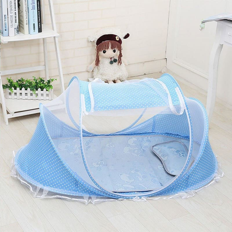 Foldable  Crib 0-1 Years Baby Bed With Pillow Mat Set Portable Folding Crib With Netting Newborn Sleep Travel - My Web Store Shopping