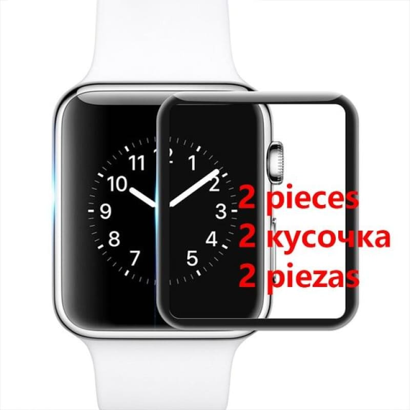 Full Coverage Screen Protector For Apple Watch Protection Curved Screenprotector 3D Tempered Glass - My Web Store Shopping