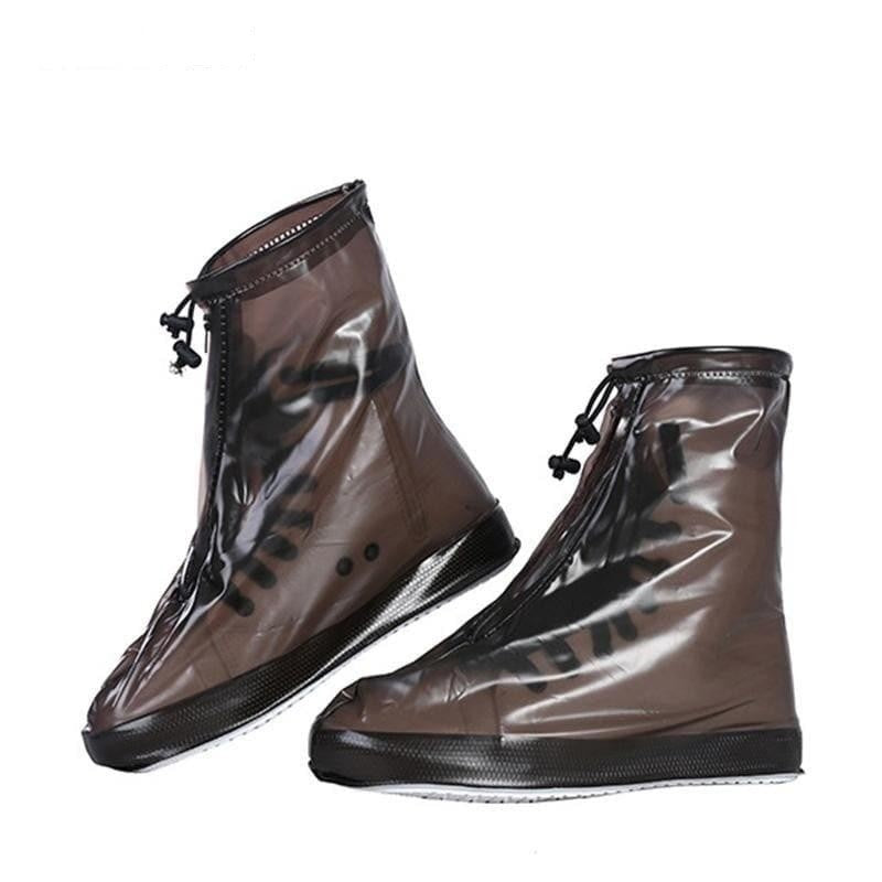 Men Women's Rain Waterproof Flat Ankle Boots Cover Heels Boots Shoes Covers Thicker Non-slip - My Web Store Shopping