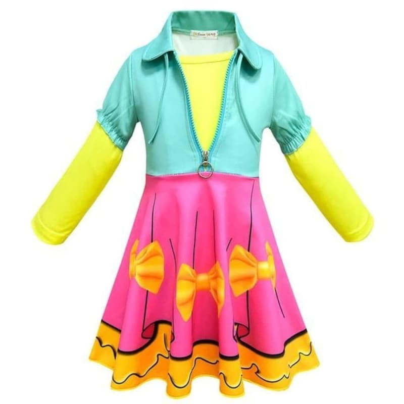 Load image into Gallery viewer, Girl Fancy Nancy Lol Dress Cosplay Cartton Dolls Costume BabyColorful Clothes Kids Summer - My Web Store Shopping