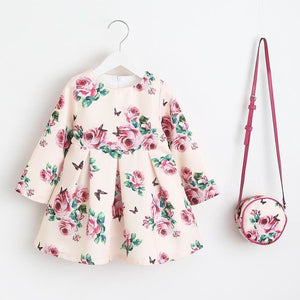 Load image into Gallery viewer, Girls Dress Unicorn Party Children Clothing Princess Dress with Bag 2018 Baby Clothes Kids Flower - My Web Store Shopping