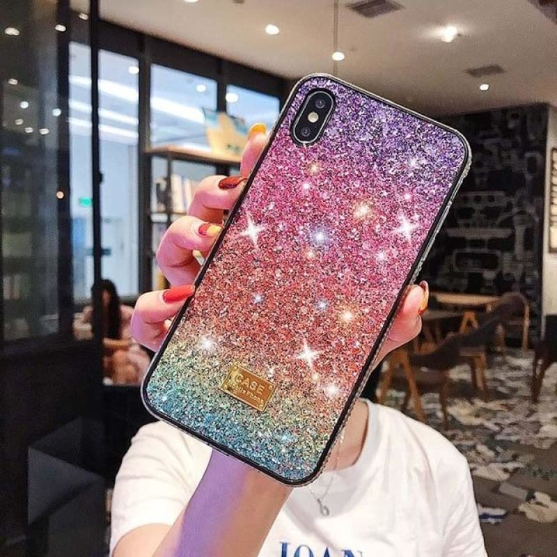 Load image into Gallery viewer, Glitter Crystal Phone Case For iPhone XR 11 Pro XS MAX Back Cover for iPhone 7 8 6 6S Plus X Coque - My Web Store Shopping