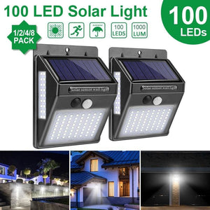 Load image into Gallery viewer, Goodland Outdoor Lighting 100 LED Solar Wall Light Waterproof Outdoor Lamp LED With PIR Motion - My Web Store Shopping