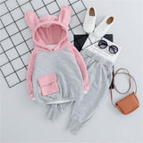 Baby Girls Clothes Suits Toddler Infant Clothing Sets Cartoon Rabbit T Shirt Pants Children Costume - My Web Store Shopping