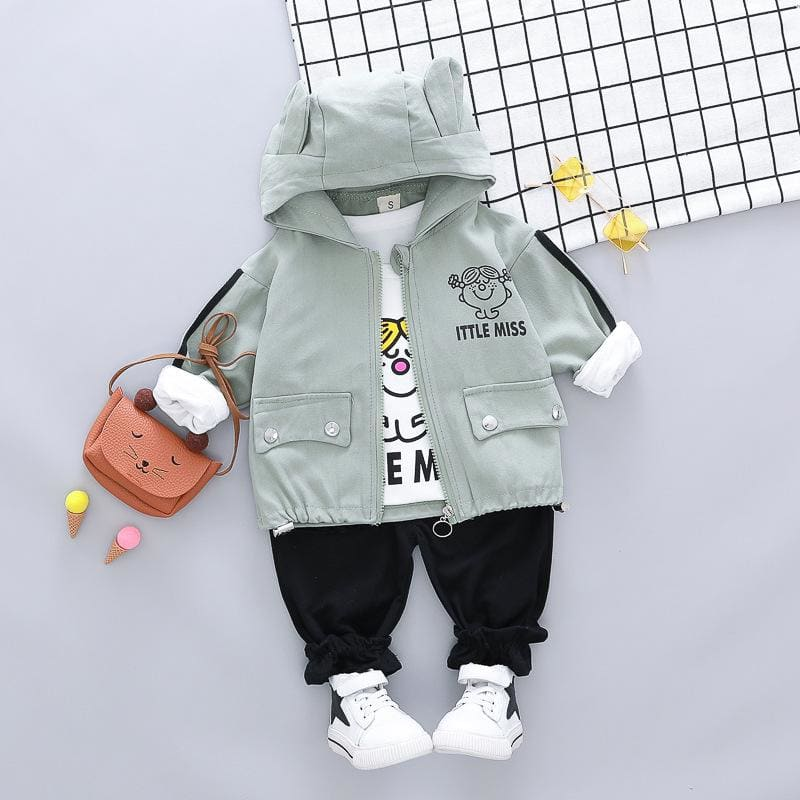 Toddler Infant Clothing Sets Baby Girls Clothes Suits Coats T Shirt Pants Children Vacation Costume - My Web Store Shopping