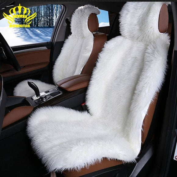 High Quality faux fur front car seat covers for car cushion universal fit Most cars seat Interior - My Web Store Shopping